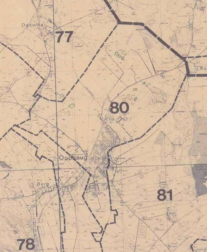 kart gårdsnummer Matrikkelgården Opphaug, gårdsnummer 80 kart gårdsnummer
