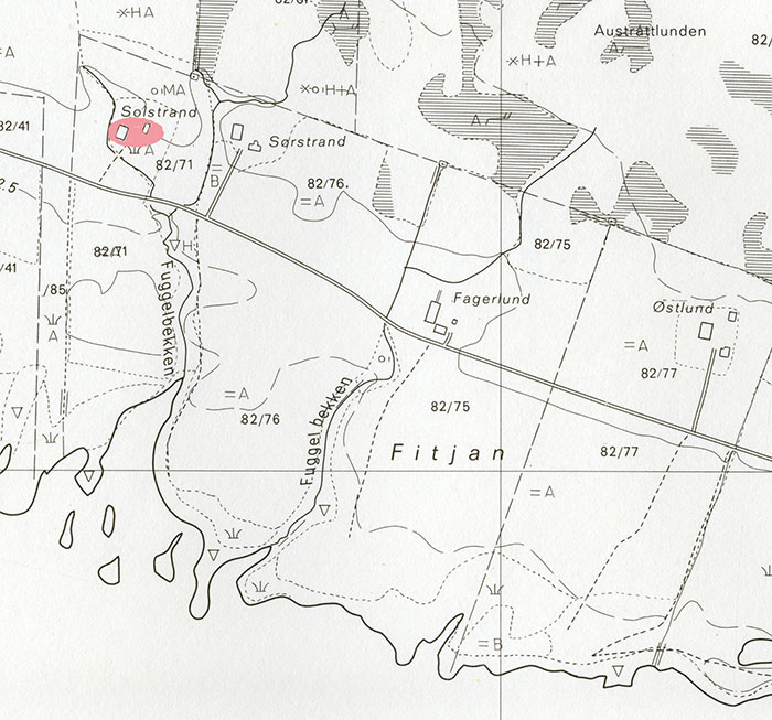 kart gårdsnummer Matrikkelgården Austrått, gårdsnummer 82 kart gårdsnummer