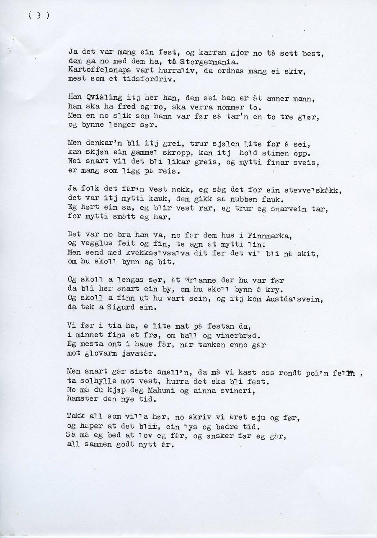 9d721c24 Dikt, sanger og revytekster, skrevet av Helmer Karlseng i Ørland