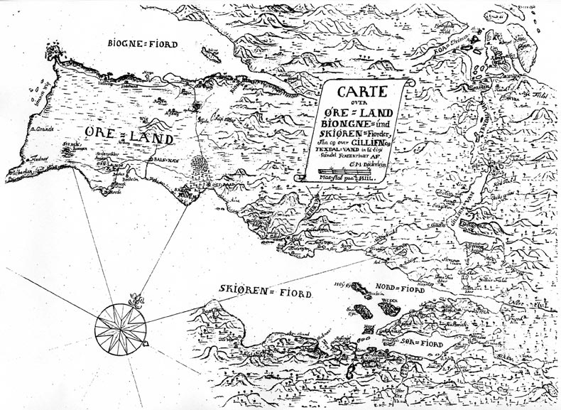 ørlandet kart Et gammelt kart over Ørland ørlandet kart